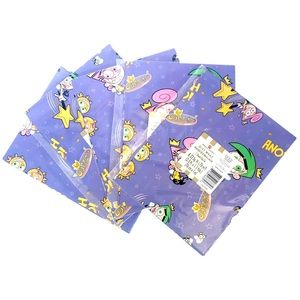 Fairly Odd Parents y2k deadstock gift wrap x5 pkg